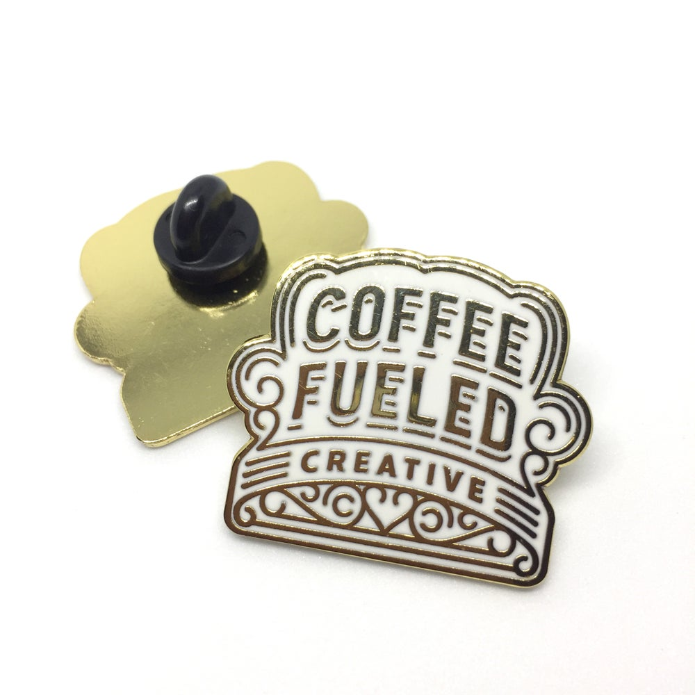 Image of COFFEE FUELED CREATIVE Lapel Pin