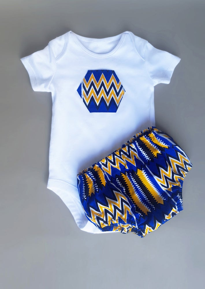 Image of Baby Boy Bloomer Set