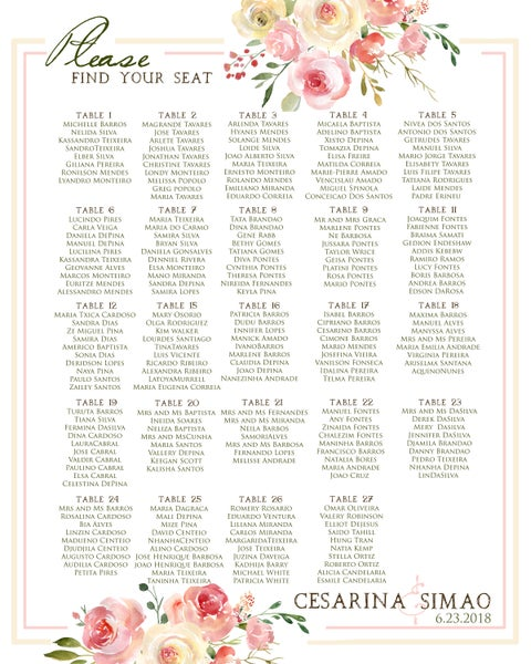 Image of Blush & Yellow Ceremony Cards & Seating Chart