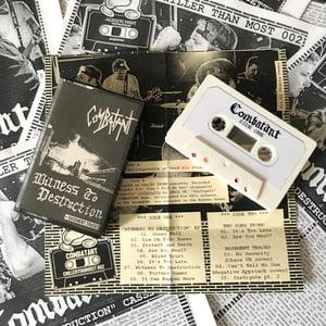Image of COMBATANT cassette + COMBATANT fanzine
