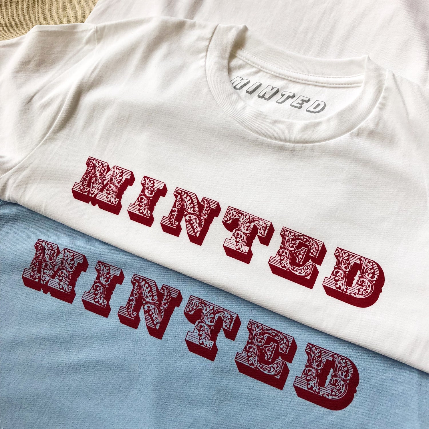 Image of Minted Baroque T-shirt (White)