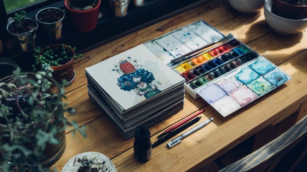 Image of Original drawing/Dessin original : 365 Squares 2 Series