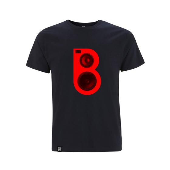 Image of Bedrock Red Speaker T-shirt Navy