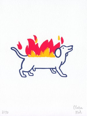 Image of HOT DOG Print