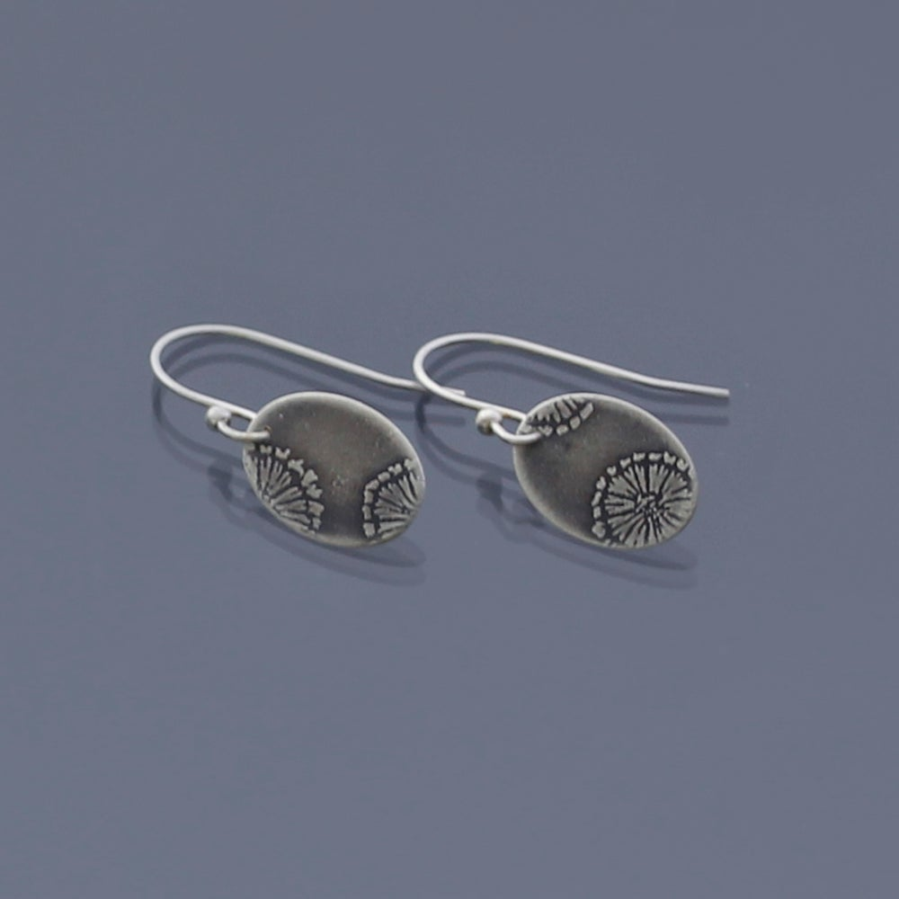 Image of Sterling Silver Fossil Earrings