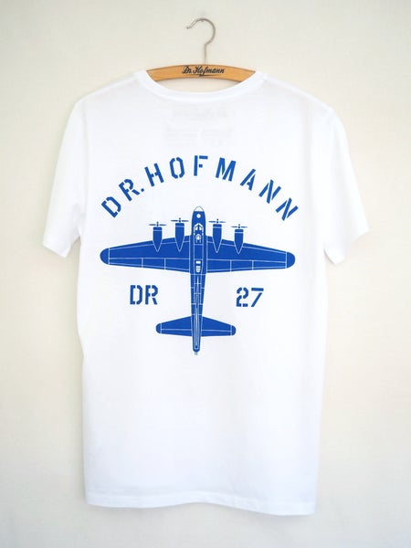 "Image of ""BOMBER TEE"" - Organic cotton - White"
