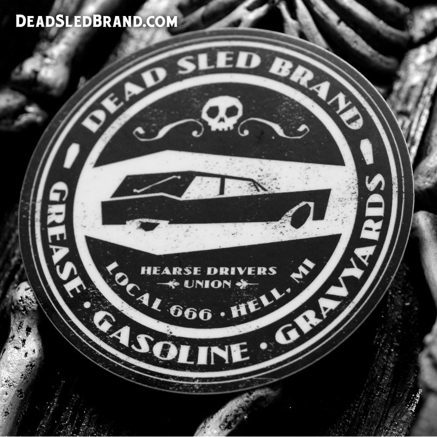 Image of Grease, Gasoline & Graveyards 3-Inch Sticker