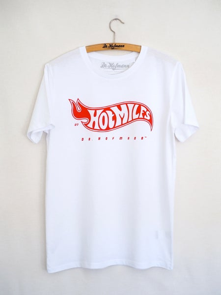 "Image of ""HOT MILFS TEE"" - Organic cotton - White"