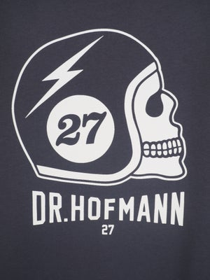 "Image of ""HELMET - Organic cotton - Vintage grey/blue"