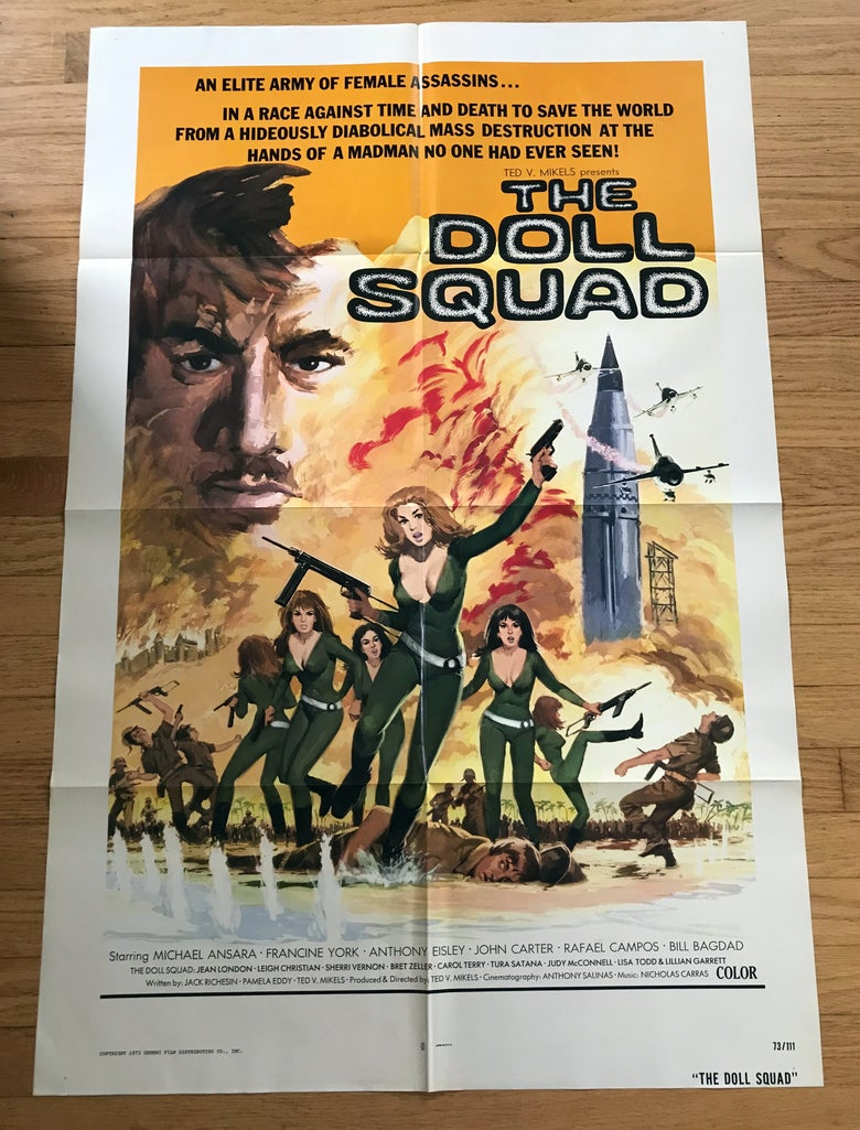 Image of 1973 THE DOLL SQUAD Original U.S. One Sheet Movie Poster
