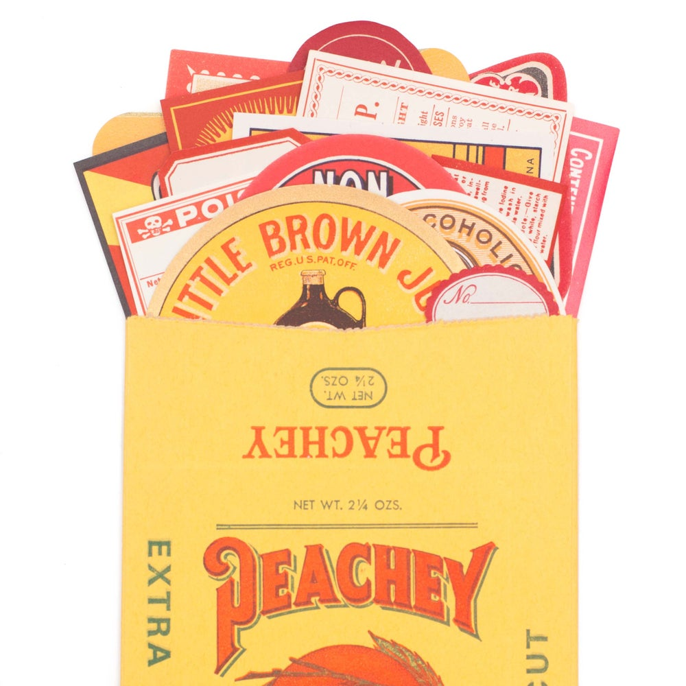 Image of Red, Orange, & Yellow Label Collection