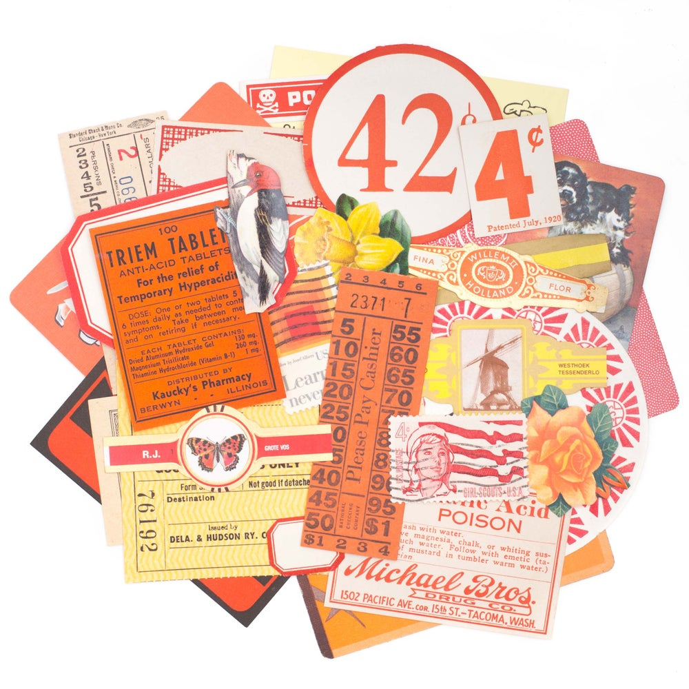 Image of Red, Orange, & Yellow Paper Collection