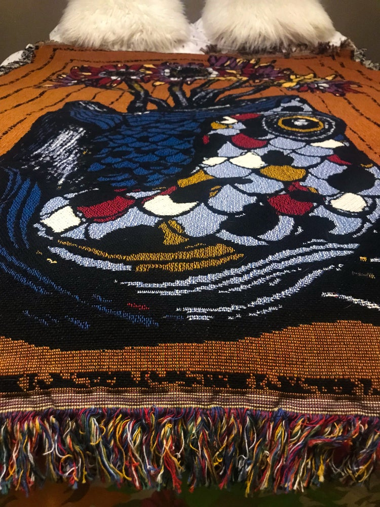 "Image of ""Love & Longing"" Full Color Woven Tapestry Throw (Limited Edition)"