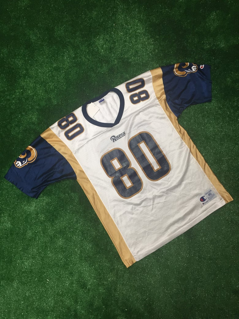 Image of Vintage Isaac Bruce St. Louis Rams Champion Jersey (Size 40)