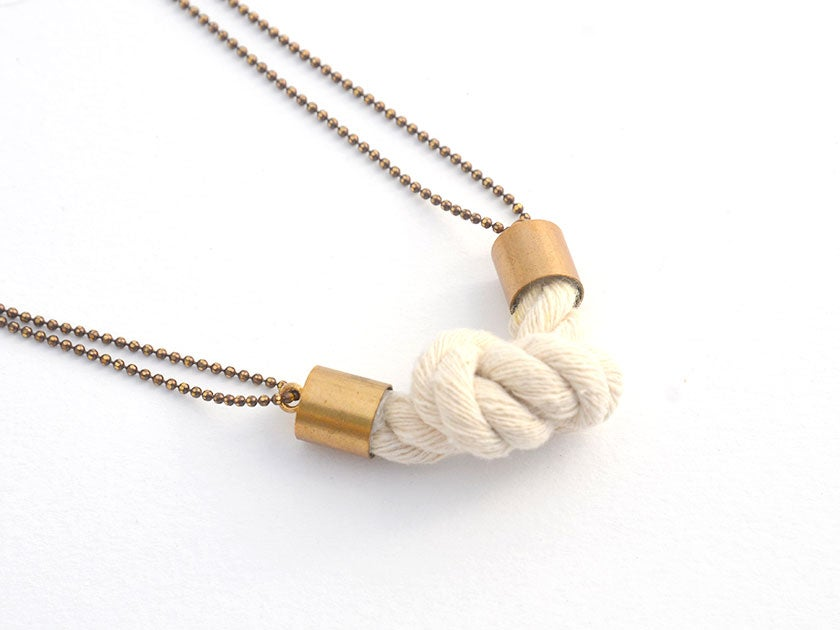 rope knot pendant
