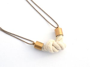 Image of rope knot pendant