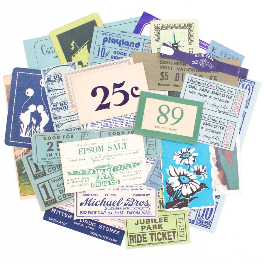 Image of Green & Blue Paper Collection