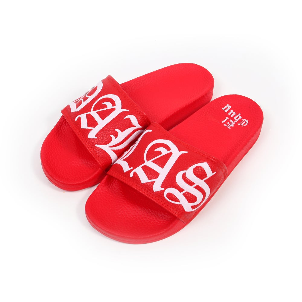 Image of DALLAS RED SLIDES