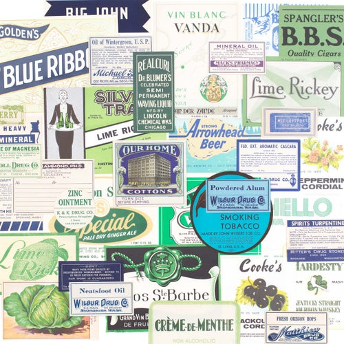 Image of Green & Blue Label Collection