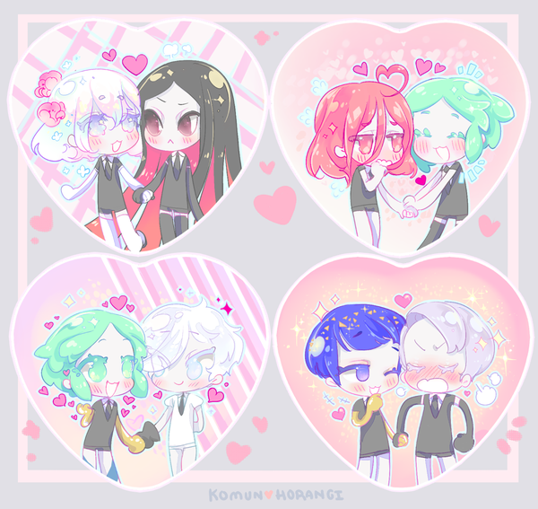 Image of Houseki Shipping Heart Buttons