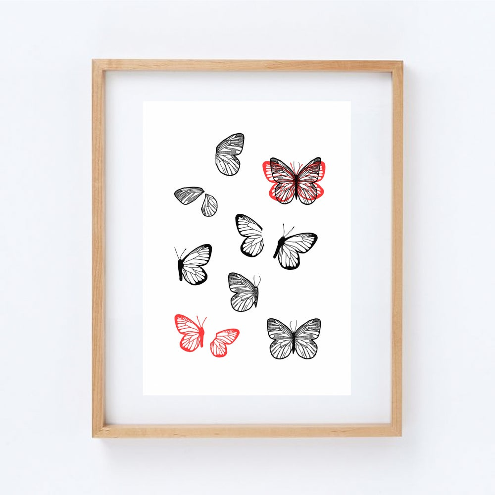 Image of butterflies - print