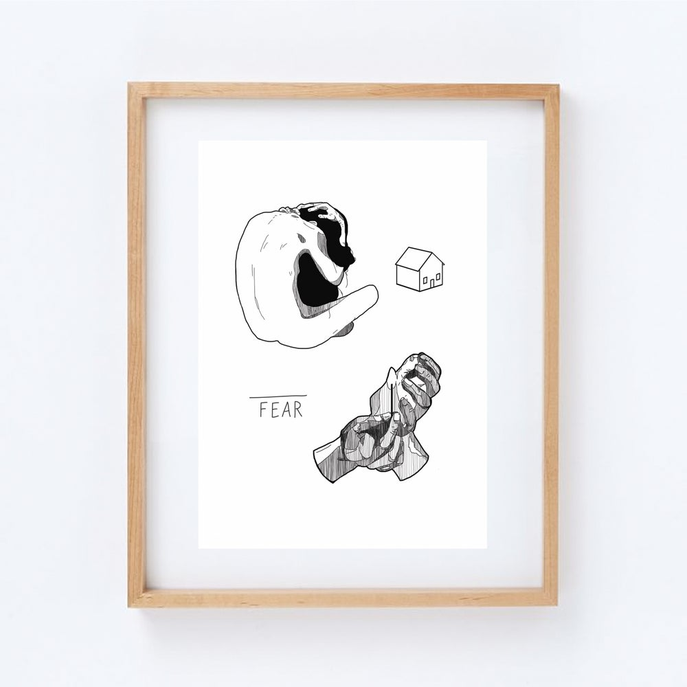 Image of fear - print