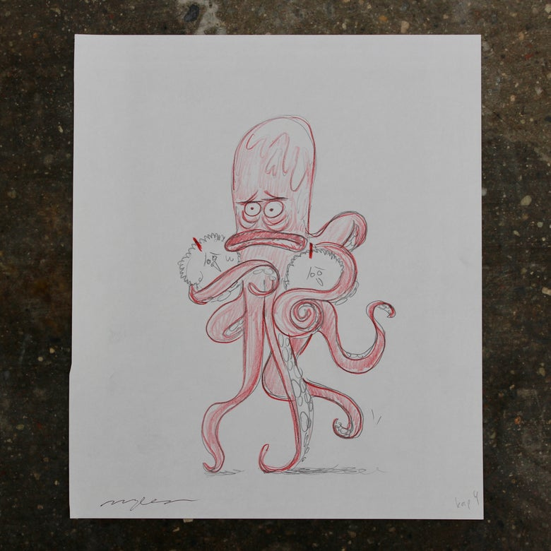 Image of Octopus with hens
