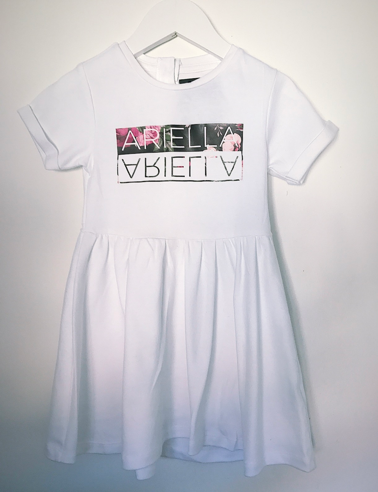 Image of Personalised Cotton Flipname Dress