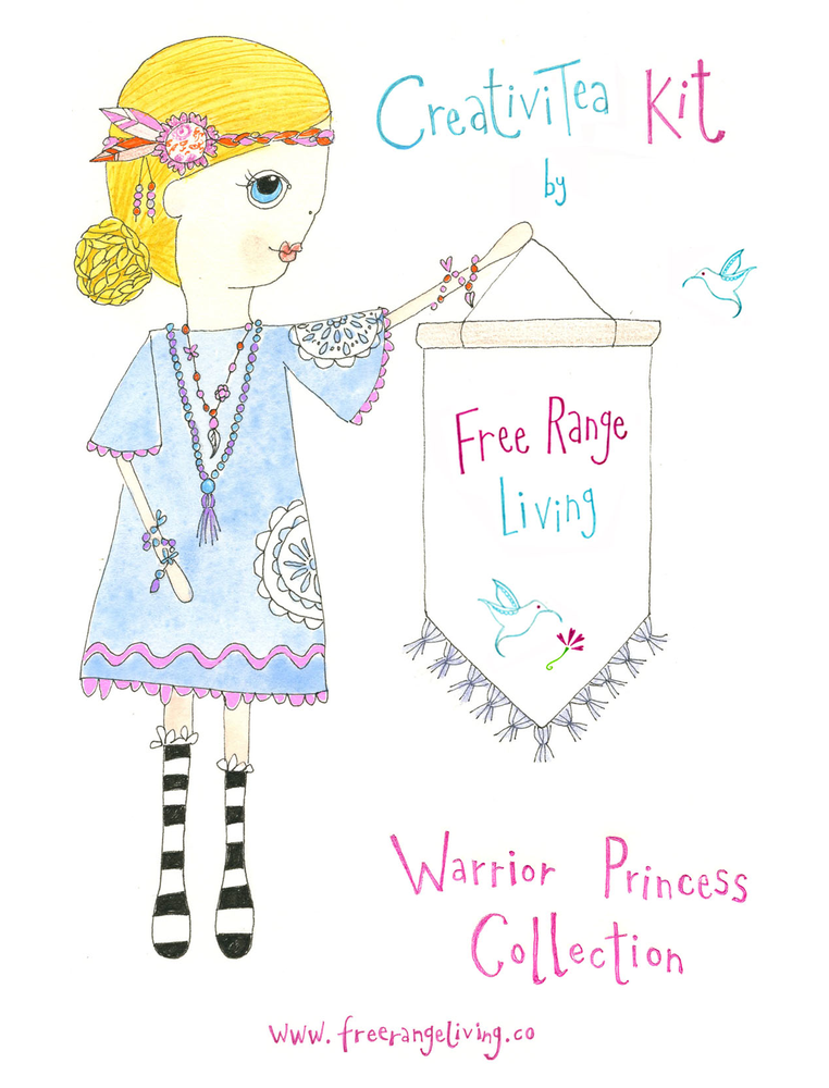 Image of Warrior Princess Tassel Necklace CreativiTea Kit