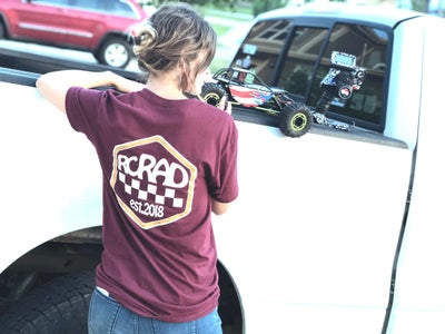 Image of RCRAD SHIELD TEE MAROON