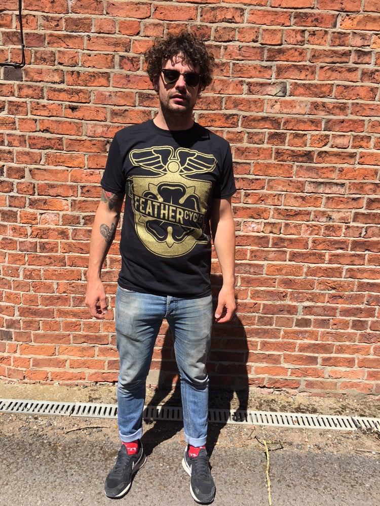 Image of Feather Cycles Black and Gold T-shirt