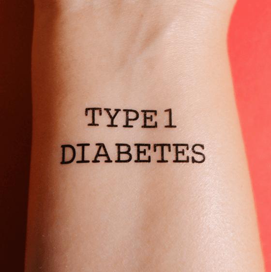 "Image of Temporary Tattoo ""Type 1 Diabetes"""