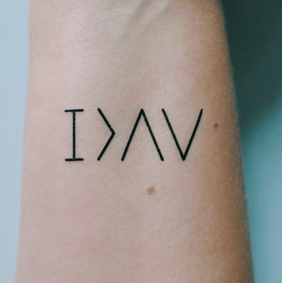 "Image of Temporary Tattoo ""I am greater than the highs and lows"""