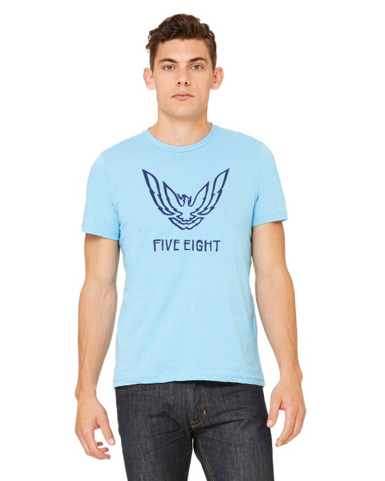 "Image of Five Eight ""Firebird"" Tee - Ocean Blue"