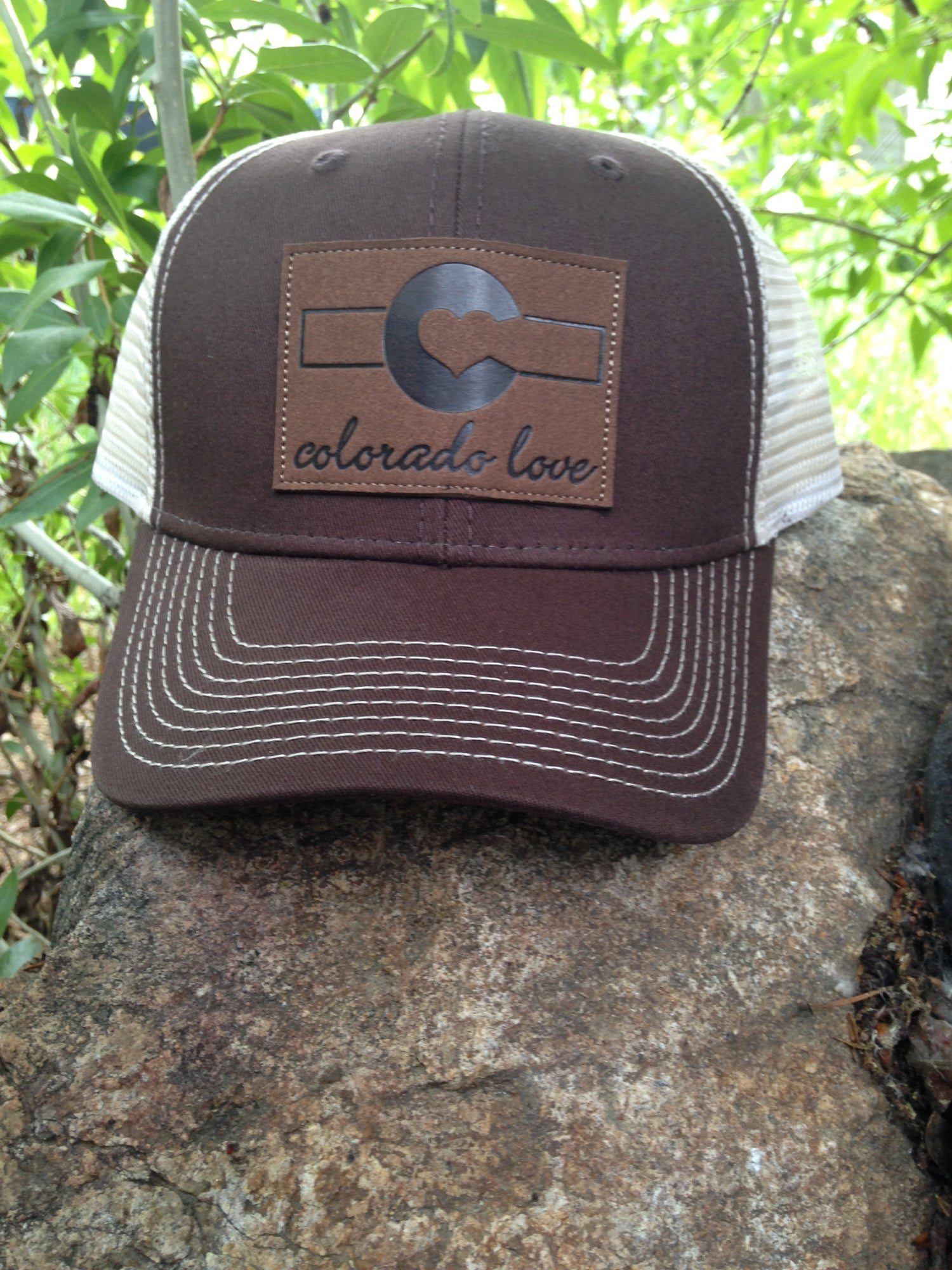 Image of Leather Patch Trucker- Cigar