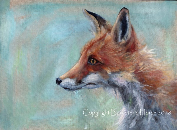Image of FOX, ORIGINAL ACRYLIC ON LINEN PAINTING