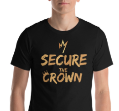 Image of Secure The Crown T-Shirt Black