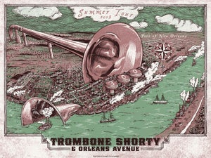 Image of Trombone Shorty Summer 2018 Tour Poster