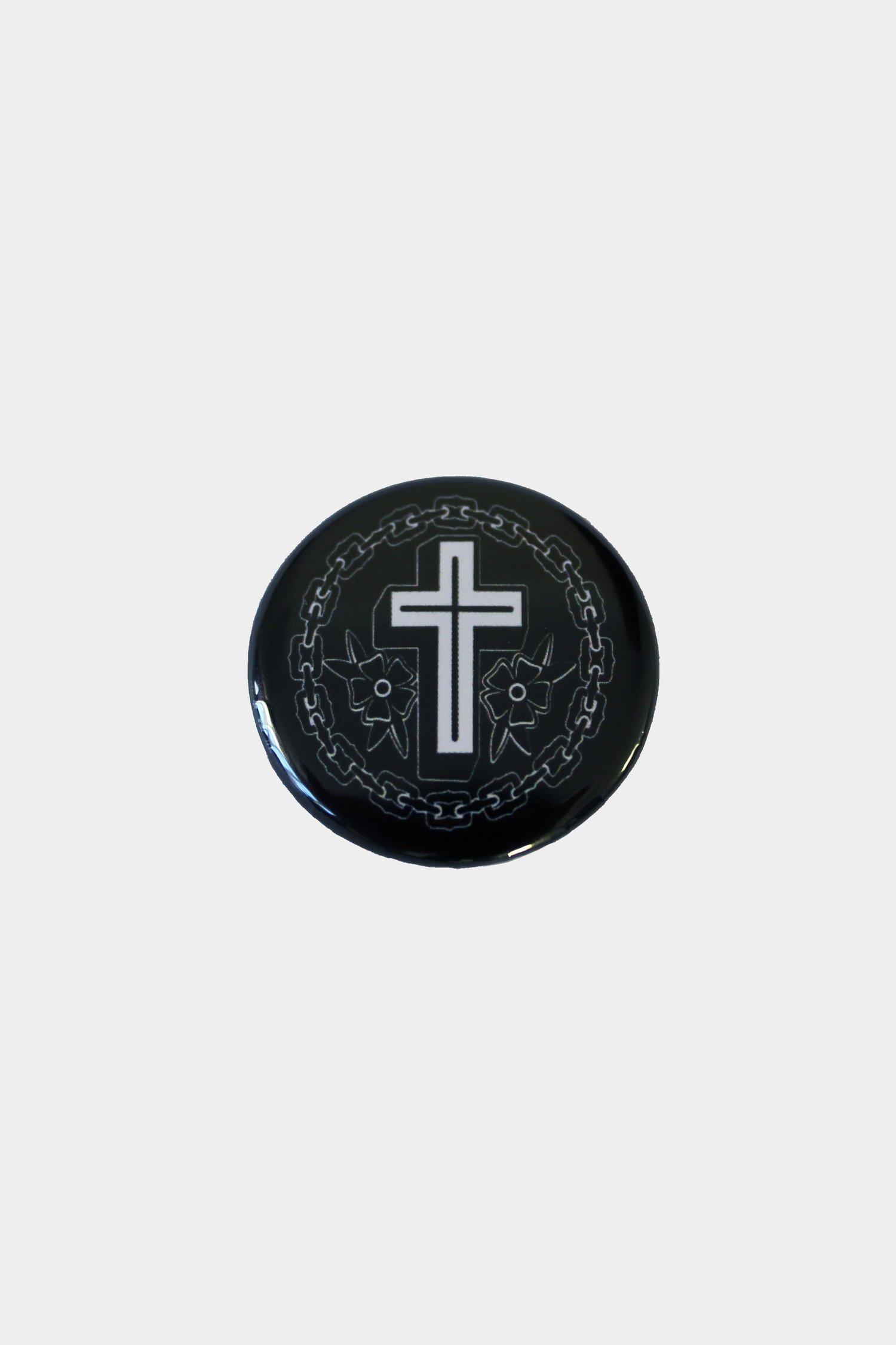 Image of Cross & Rose Badge