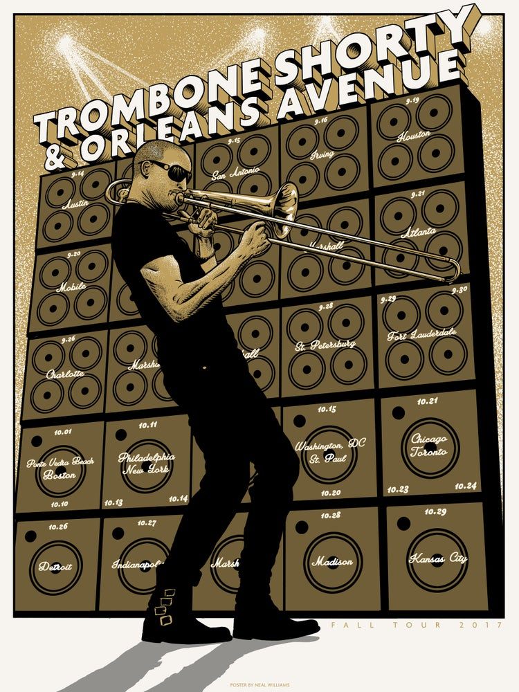 Image of Trombone Shorty Fall 2017 Tour Poster