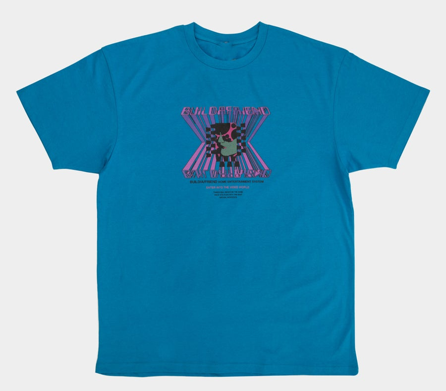 Image of Home Entertainment Tee Pacific Blue