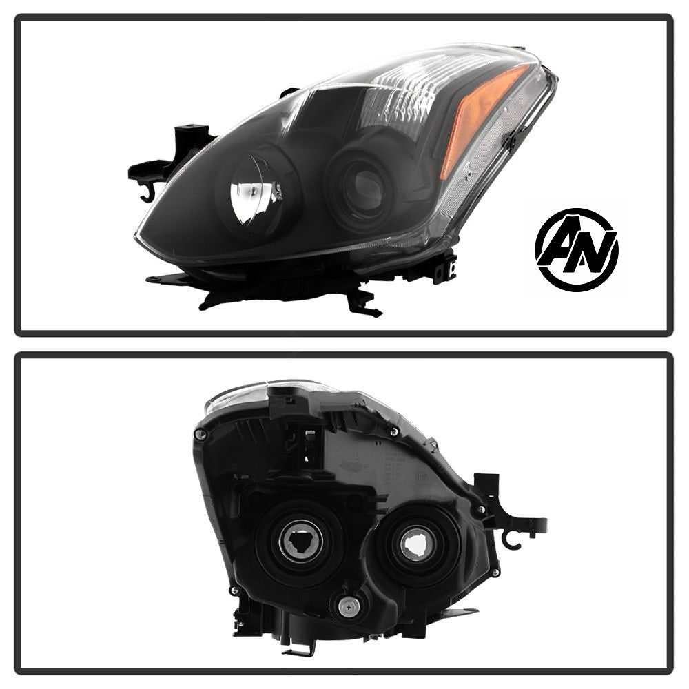 Image of (D32) 10-13 ALTIMA COUPE 2DR BLACK PROJECTOR HEADLIGHTS (HALOGEN)