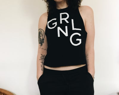 Image of grlgng cropped racerback