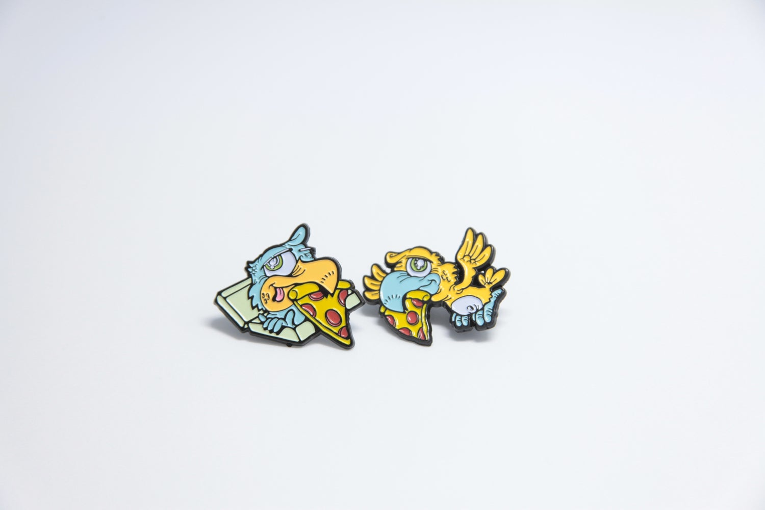 Image of Beak03 Colab Lapel Pin