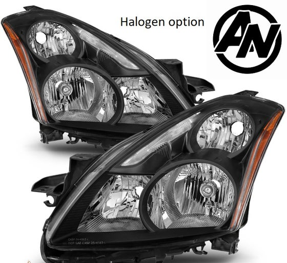 Image of (L32A) 10-12 ALTIMA SEDAN 4DR BLACK STYLE HEADLIGHTS (HID or Halogen)