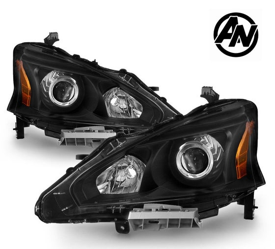 Image of (L33) 13-15 ALTIMA SEDAN 4DR BLACK STYLE PROJECTOR HEADLIGHTS (Halogen)
