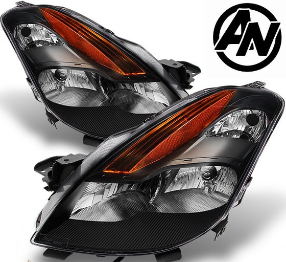 Image of (D32) 08-09 ALTIMA COUPE 2DR BLACK HEADLIGHTS (HALOGEN)
