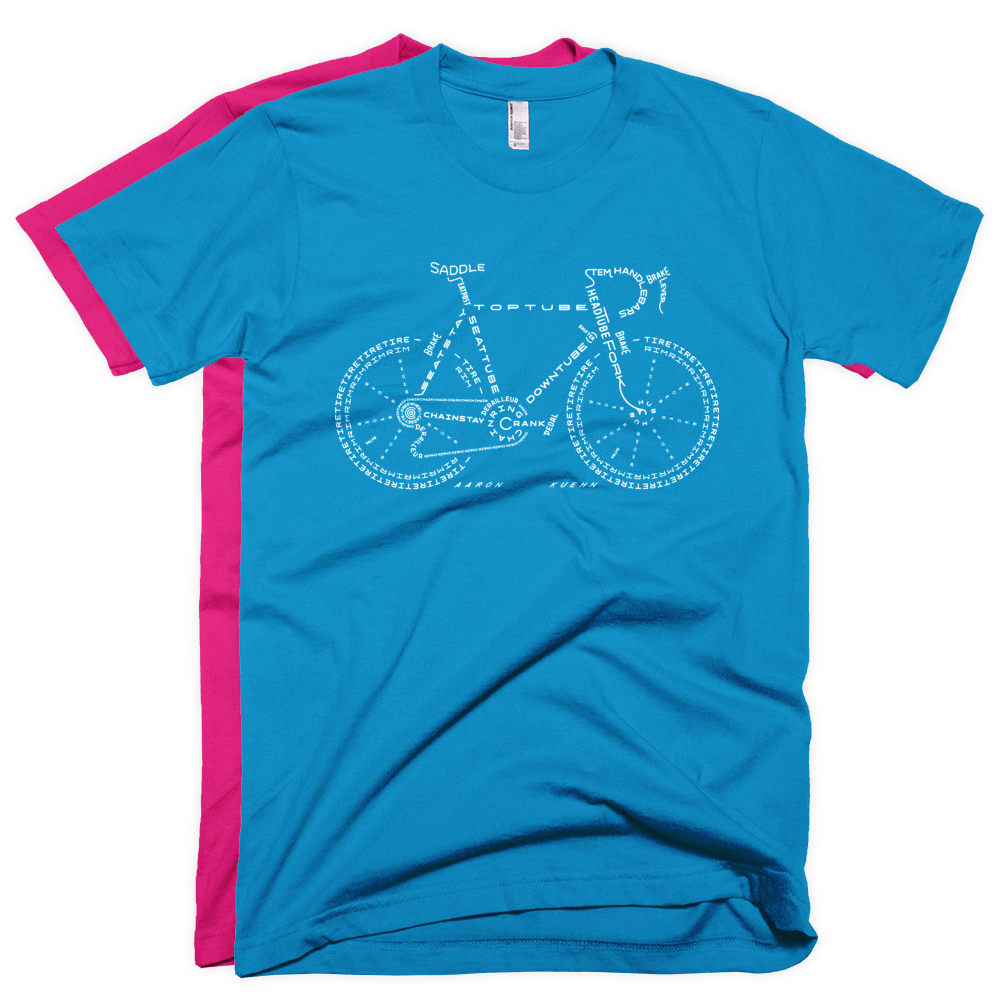 Image of Bike Typo - Summer T-shirt