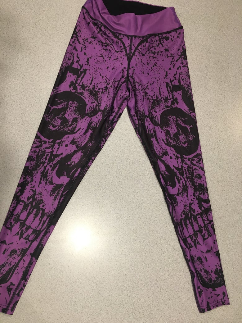 Image of PURPLE SKULLZ TIGHT