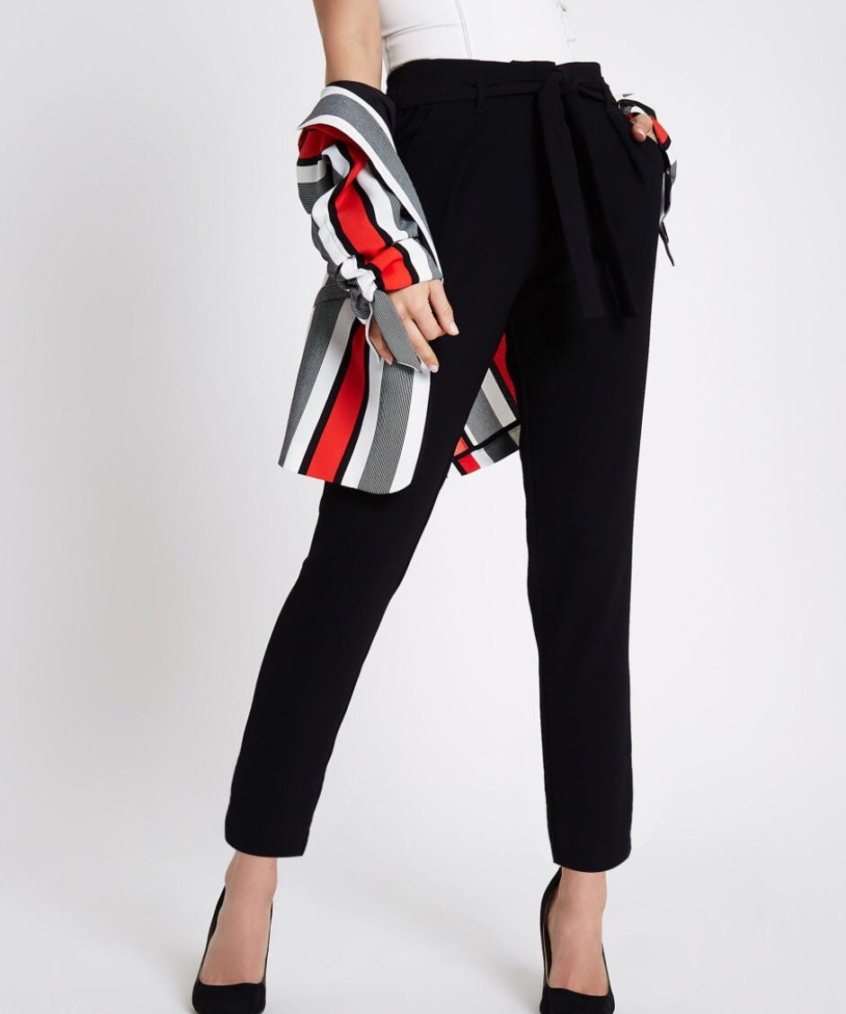 Image of Black crop trousers